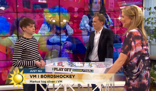 Bordshockey i TV4 Nyhetsmorgon